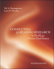 Conducting And Reading Research In Health and Human Performance 4th edition 9780072972900 0072972904
