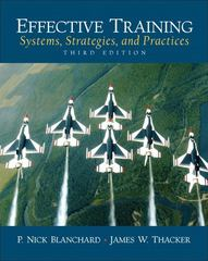 Effective Training 3rd Edition 9780131860117 0131860119