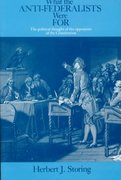 What the Anti-Federalists Were For 1st Edition 9780226775746 0226775747