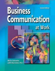 Business Communication at Work 2nd edition 9780072930153 0072930152