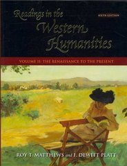 Readings in the Western Humanities, Volume II 6th edition 9780073136400 0073136409