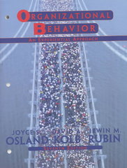 Organizational Behavior 7th edition 9780130176103 0130176109