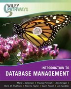 Wiley Pathways Introduction to Database Management 1st Edition 9780470101865 0470101865