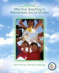 Effective Teaching in Elementary Social  Studies 6th edition 9780131738430 0131738437