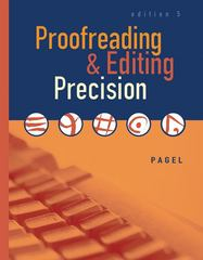 Proofreading and Editing Precision (with CD-ROM) 5th Edition 9780538442480 0538442484