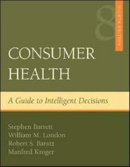Consumer Health 8th Edition 9780072972238 0072972238