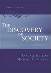 The Discovery of Society 7th edition 9780072507362 0072507365