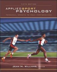 Applied Sport Psychology 5th Edition 9780072843835 0072843837