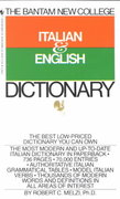 Bantam New College Italian/English Dictionary 1st Edition 9780553279474 0553279475