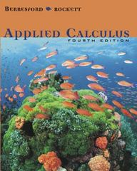 Applied Calculus 4th edition 9780618606351 0618606351