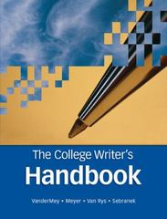 The College Writer's Handbook 1st edition 9780618491698 0618491694