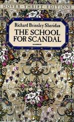 The School for Scandal 1st Edition 9780486266879 0486266877