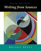 Writing from Sources 6th edition 9780312390983 031239098X
