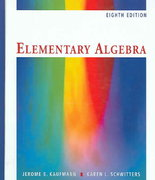 Elementary Algebra (with CD-ROM and iLrn Student Tutorial Printed Access Card) 8th edition 9780495105718 0495105716