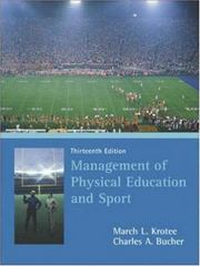 Management of Physical Education and Sport 13th Edition 9780072972924 0072972920