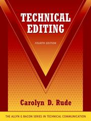 Technical Editing 4th edition 9780321330826 032133082X