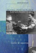 Doing Psychology Experiments (with InfoTrac ) 6th Edition 9780534602550 053460255X