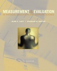 Measurement and Evaluation in Physical Education and Exercise Science 5th edition 9780805300697 0805300694