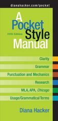A Pocket Style Manual 5th edition 9780312452759 0312452756