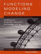 Student Solutions Manual to accompany Functions Modeling Change, 2nd Edition 2nd edition 9780471333821 0471333824