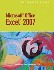Microsoft Office Excel 2007  Illustrated Complete 1st edition 9781423905226 1423905229