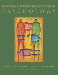 Essentials of Research Methods in Psychology 1st edition 9780072388152 0072388153