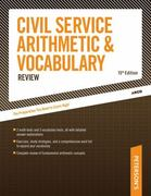 Civil Service Arithmetic and Vocabulary Review 15th edition 9780768916973 0768916976