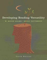 Developing Reading Versatility 10th edition 9781413029611 1413029612