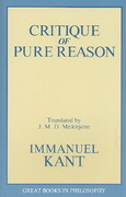 The Critique of Pure Reason 0 9780879755966 0879755962