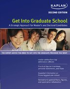 Get into Graduate School 2nd edition 9781419542152 141954215X