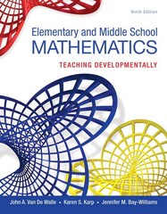 Elementary and Middle School Mathematics 9th Edition 9780134046952 0134046951
