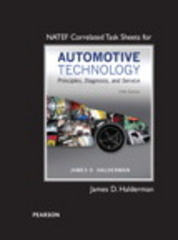 NATEF Correlated Task Sheets for Automotive Technology 5th Edition 9780133995671 0133995674