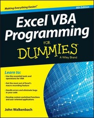 Excel VBA Programming For Dummies 4th Edition 9781119077398 1119077397