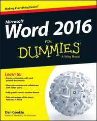Word 2016 For Dummies 1st Edition 9781119076896 1119076897
