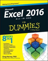 Excel 2016 All-in-One For Dummies 1st Edition 9781119077152 111907715X