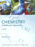 CHEMISTRY A Molecular Approach Volume 1 (Custom Edition For The University Of Central Florida)