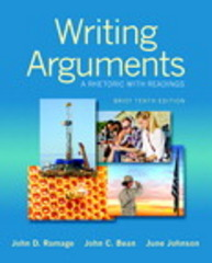 Writing Arguments 10th Edition 9780321964274 0321964276