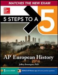 5 Steps to a 5 AP European History 2016 Edition 5th Edition 9780071837699 0071837698
