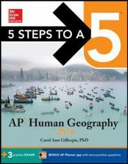 5 Steps to a 5 AP Human Geography 2016 3rd Edition 9780071846202 0071846204