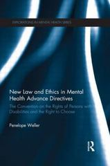 New Law and Ethics in Mental Health Advance Directives 1st Edition 9781138907980 1138907987
