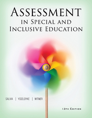 Assessment in Special and Inclusive Education 13th Edition 9781305887329 1305887328