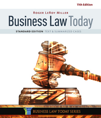 Business Law Today, Standard 11th Edition 9781305644526 1305644522