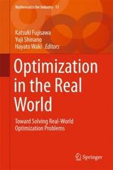 Optimization in the Real World 1st Edition 9784431554202 4431554203