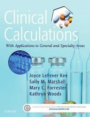 Clinical Calculations 8th Edition 9780323390880 0323390889