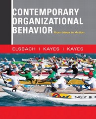 Contemporary Organizational Behavior 1st Edition 9780132555883 0132555883