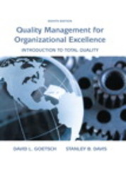 Quality Management for Organizational Excellence 8th Edition 9780133791853 0133791858