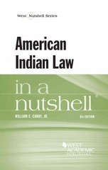 American Indian Law in a Nutshell 6th Edition 9781628100082 1628100087