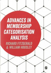 Advances in Membership Categorisation Analysis 1st Edition 9781446270738 1446270734
