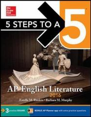 5 Steps to a 5: AP English Literature 2017 8th Edition 9781259583483 1259583481