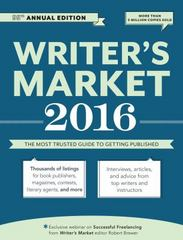 2016 Writer's Market 95th Edition 9781599639376 1599639378